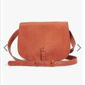Lucky Brand Point Saddle CrossBody Bag - Cognac